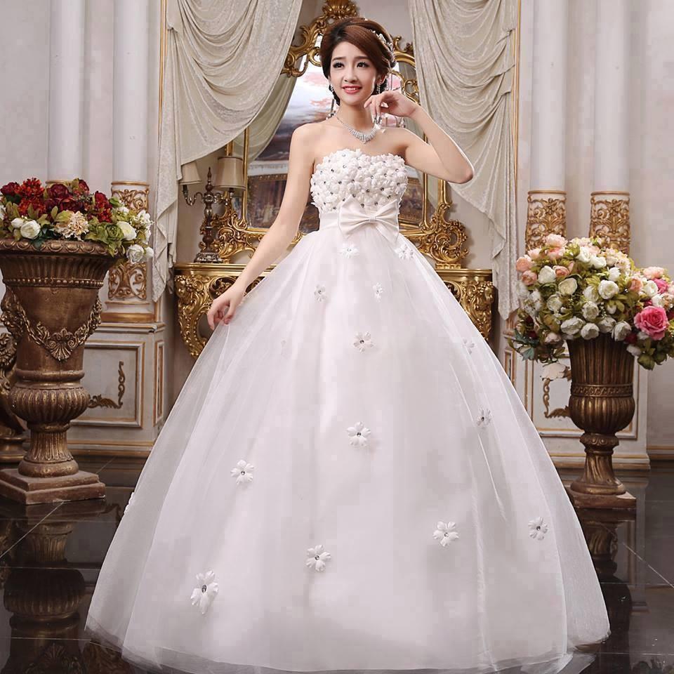 váy cưới cho bà bầu đẹp