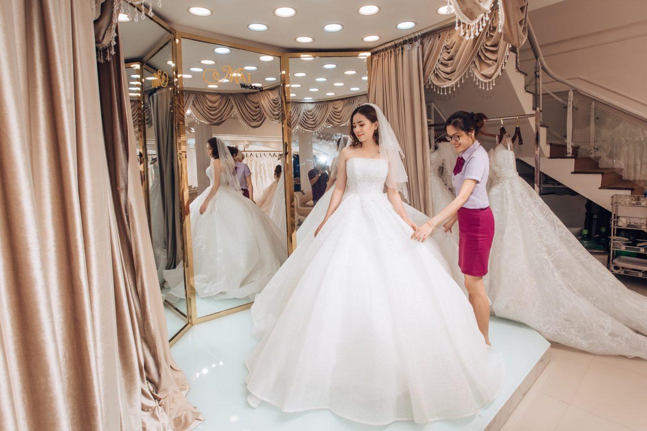 áo cưới bà bầu