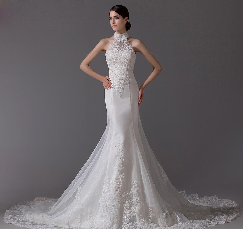 Áo cưới cổ yếm đẹp