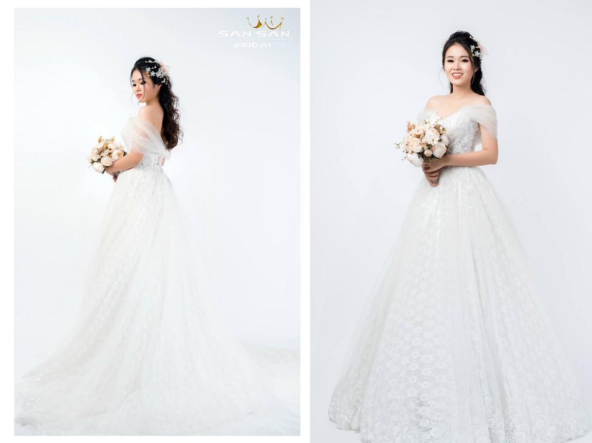 Áo cưới xòe dài đẹp