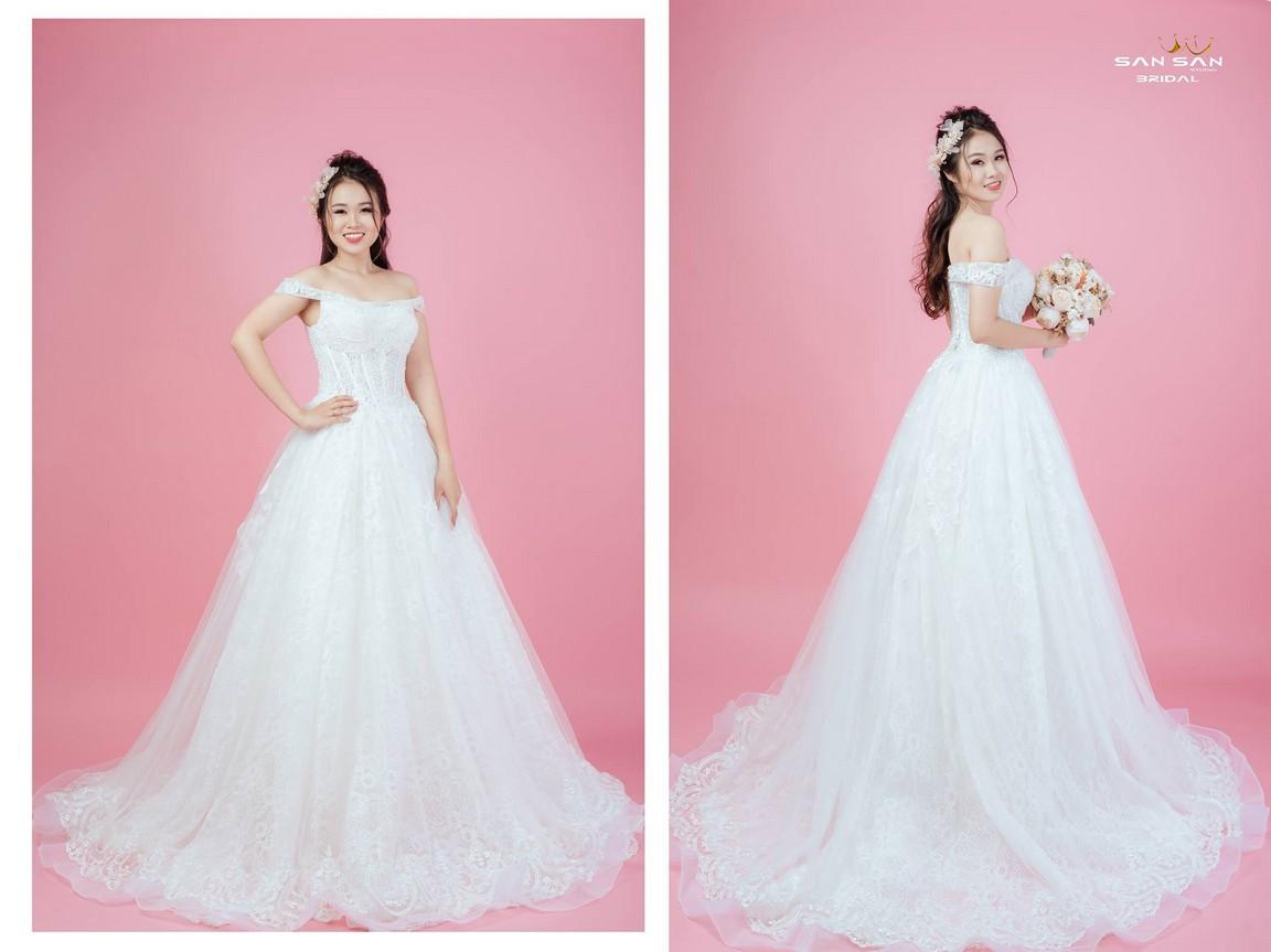 Hình váy cưới công chúa