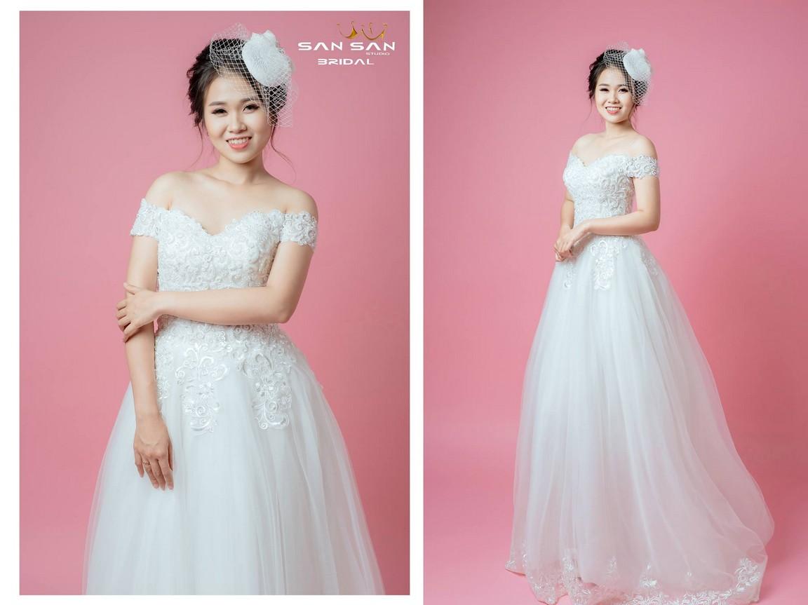 Mua váy cưới công chúa