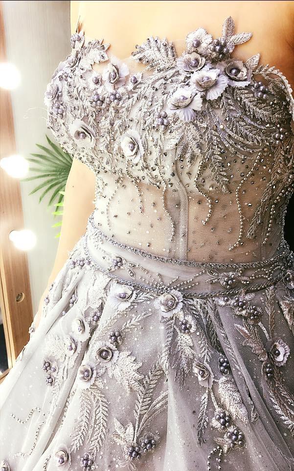 Váy cưới công chúa ngắn