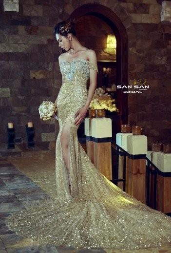 Váy cưới đuôi cá hàn quốc