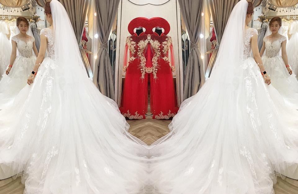 váy cưới kiểu xòe