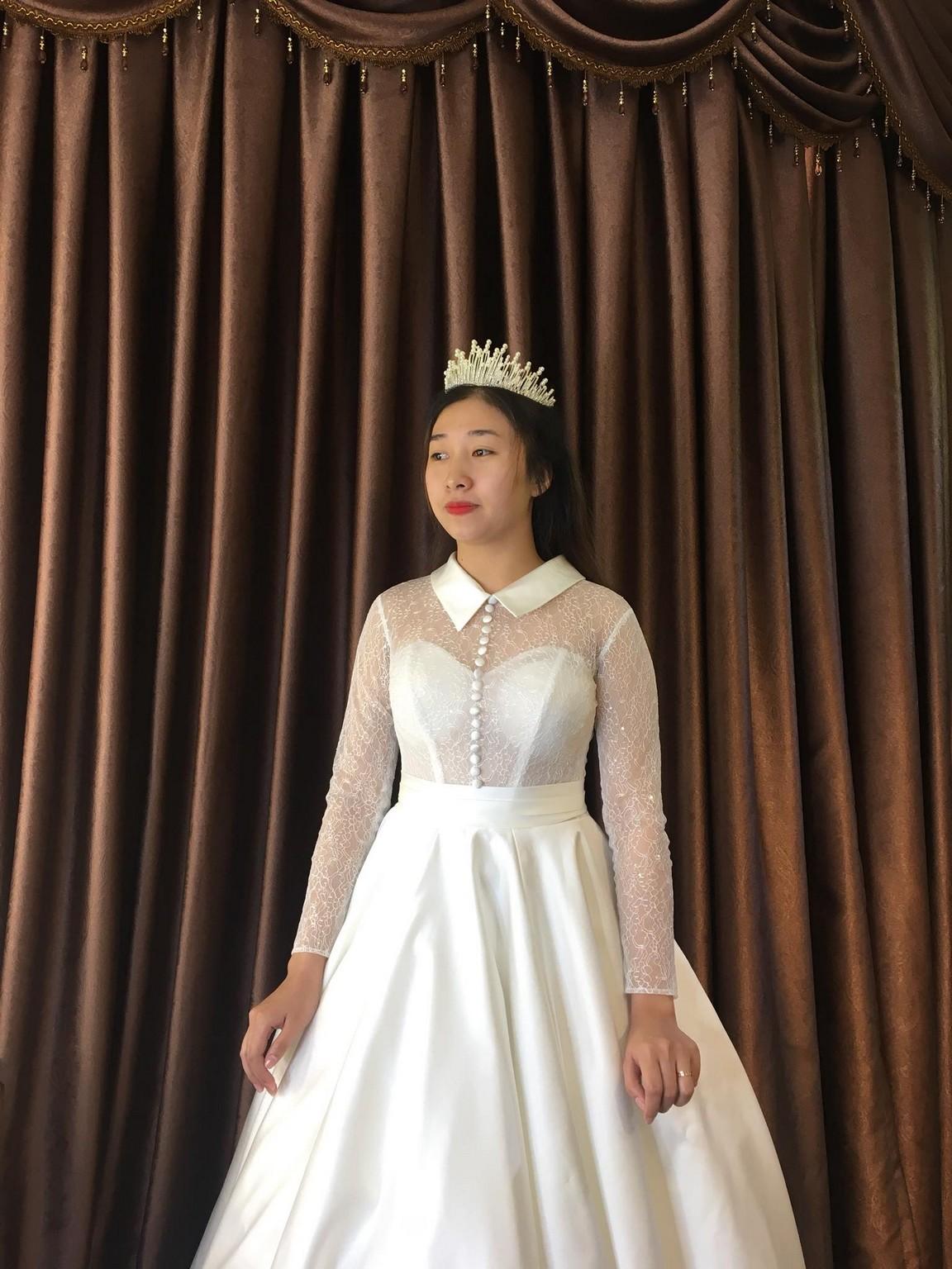 Váy cưới xòe bông 12