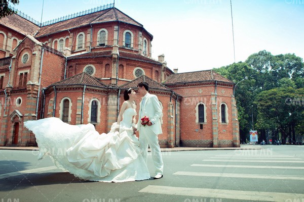 ảnh cưới nhà thờ đức bà