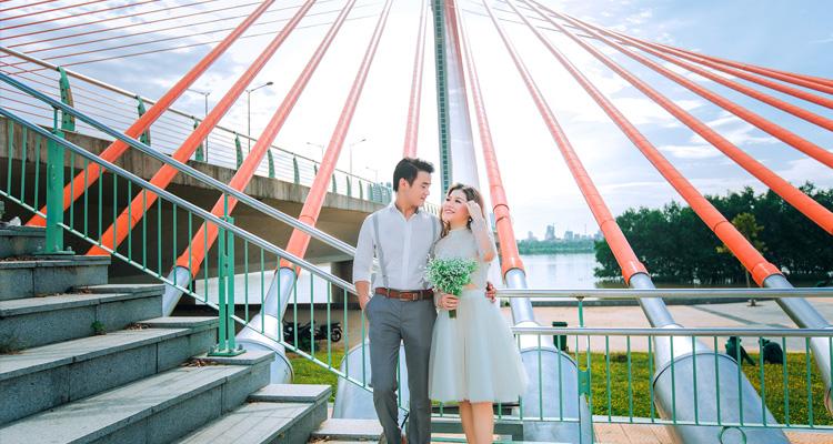 Chụp ảnh cưới cầu trần thị lý
