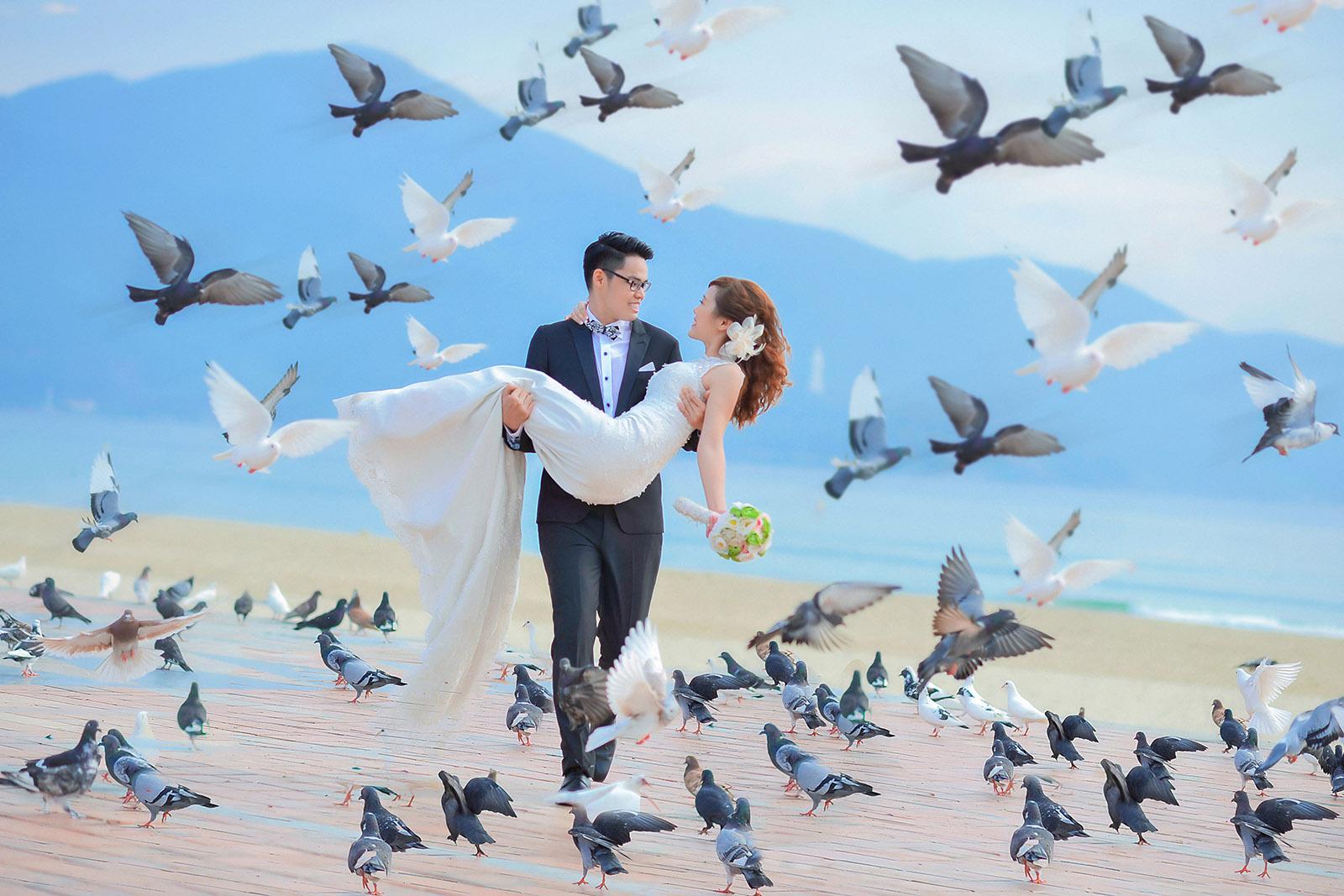 Chụp ảnh cưới công viên biển đông đà nẵng