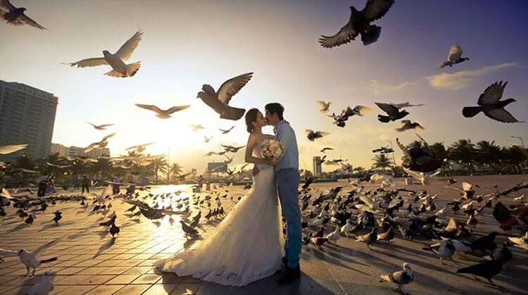 Chụp ảnh cưới công viên Biển Đông