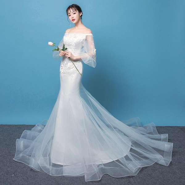 váy cưới đuôi cá