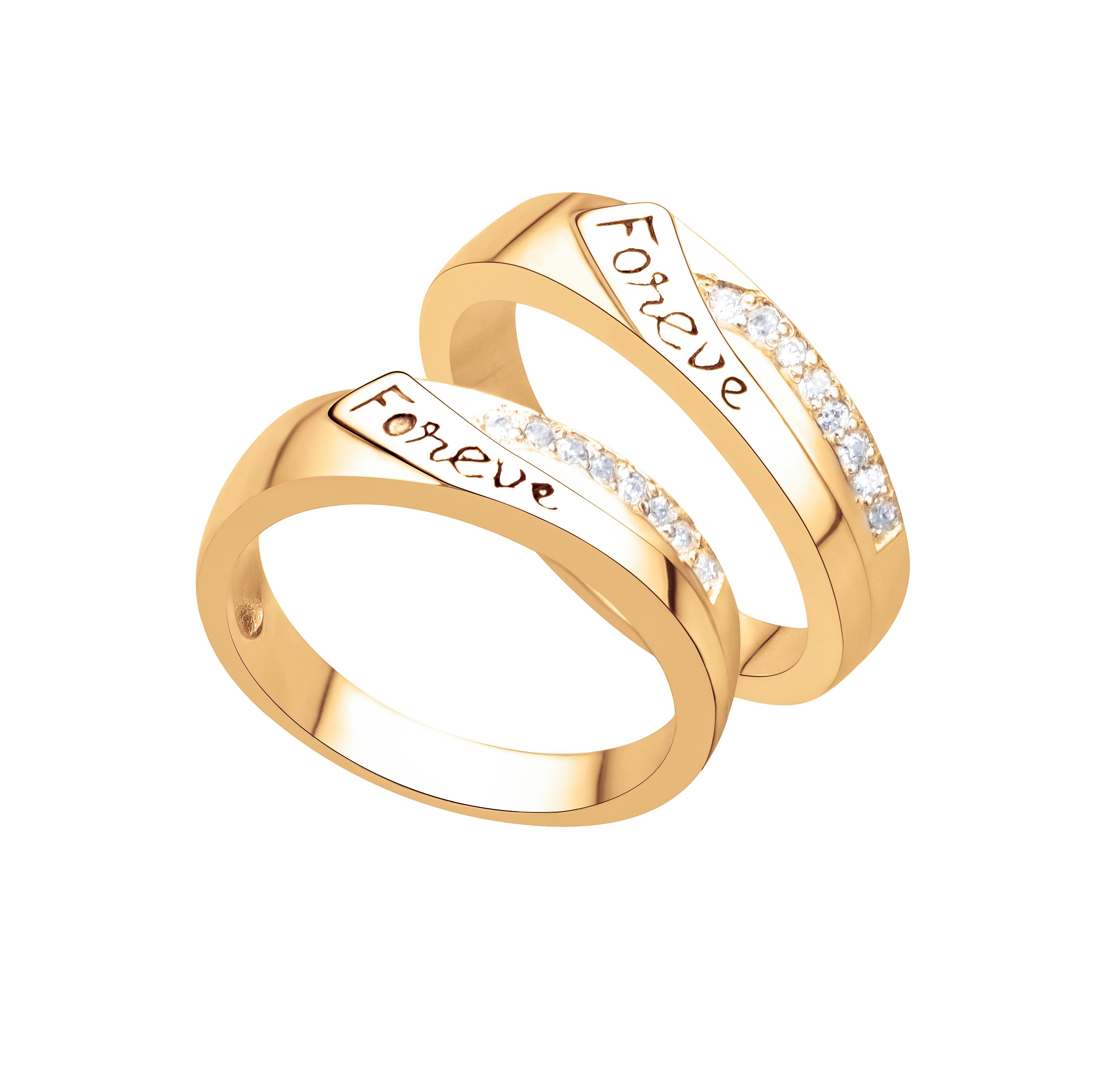 nhẫn cưới vàng trắng đính đá