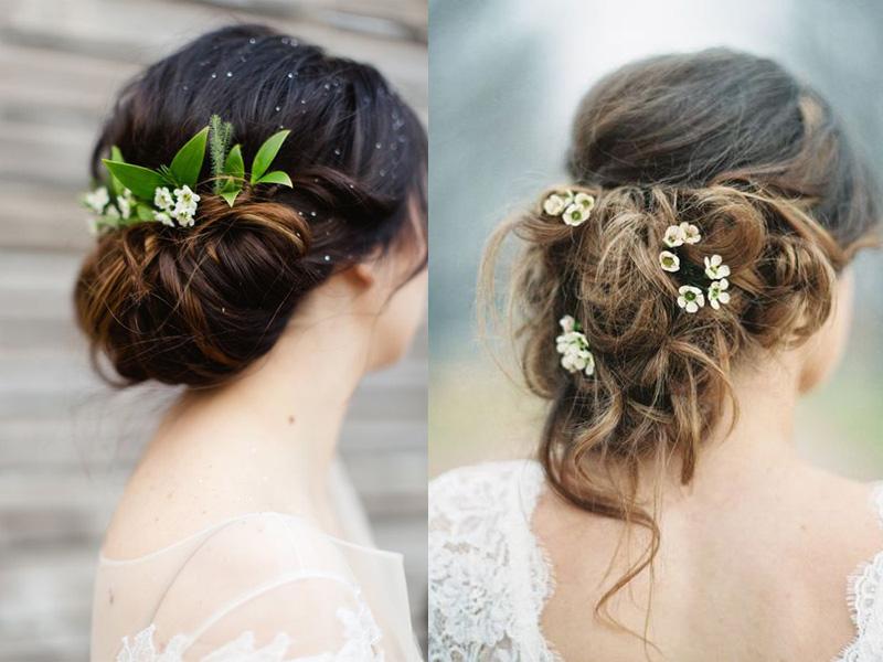 tóc búi chignon ngày cưới