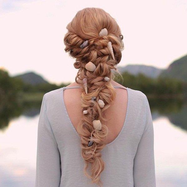 tóc cưới vỏ sò