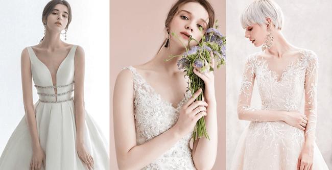 váy cưới cổ chữ v đẹp