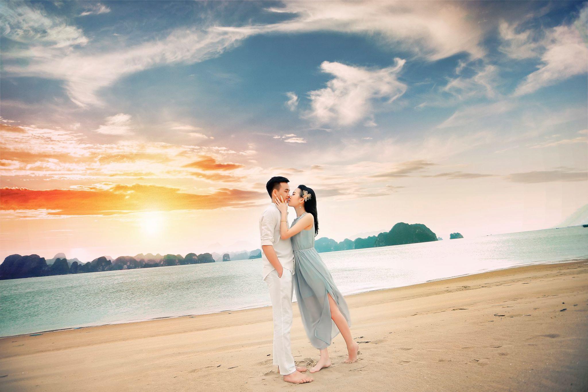 chụp hình cưới ở biển