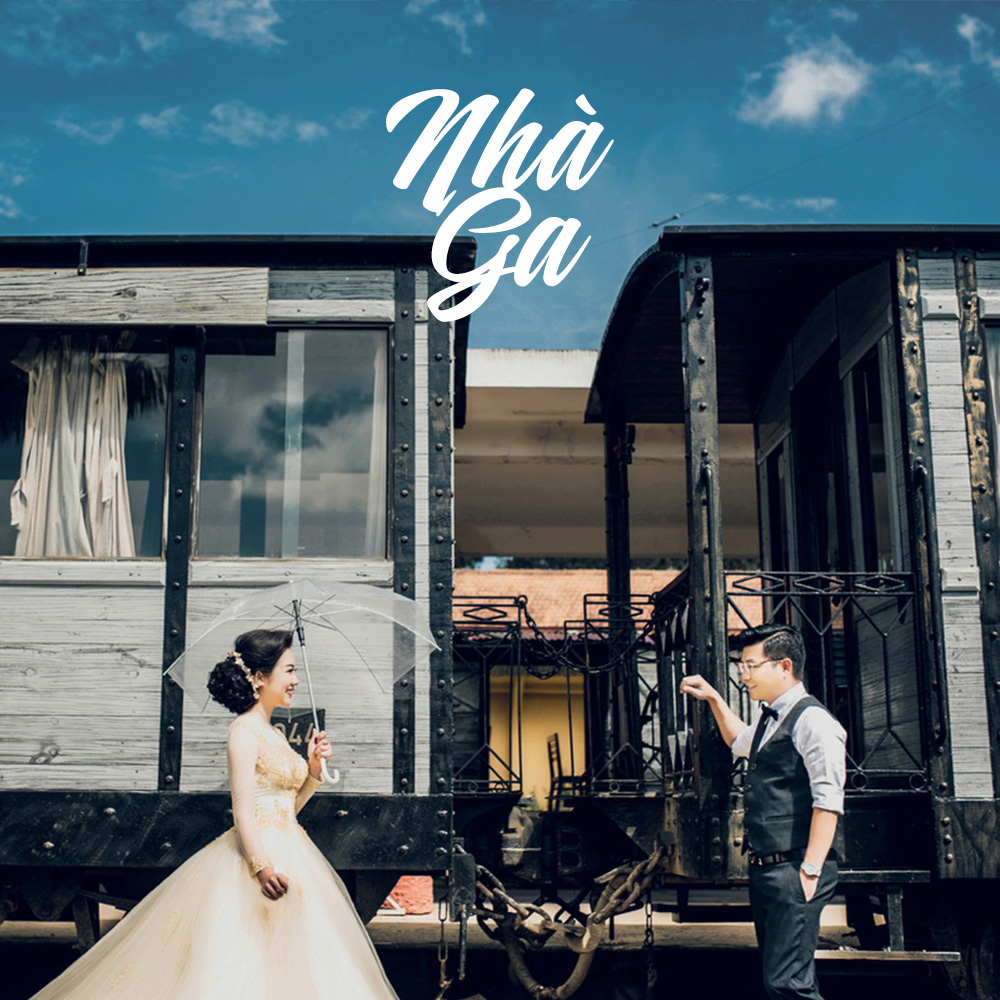 ảnh cưới nhà ga