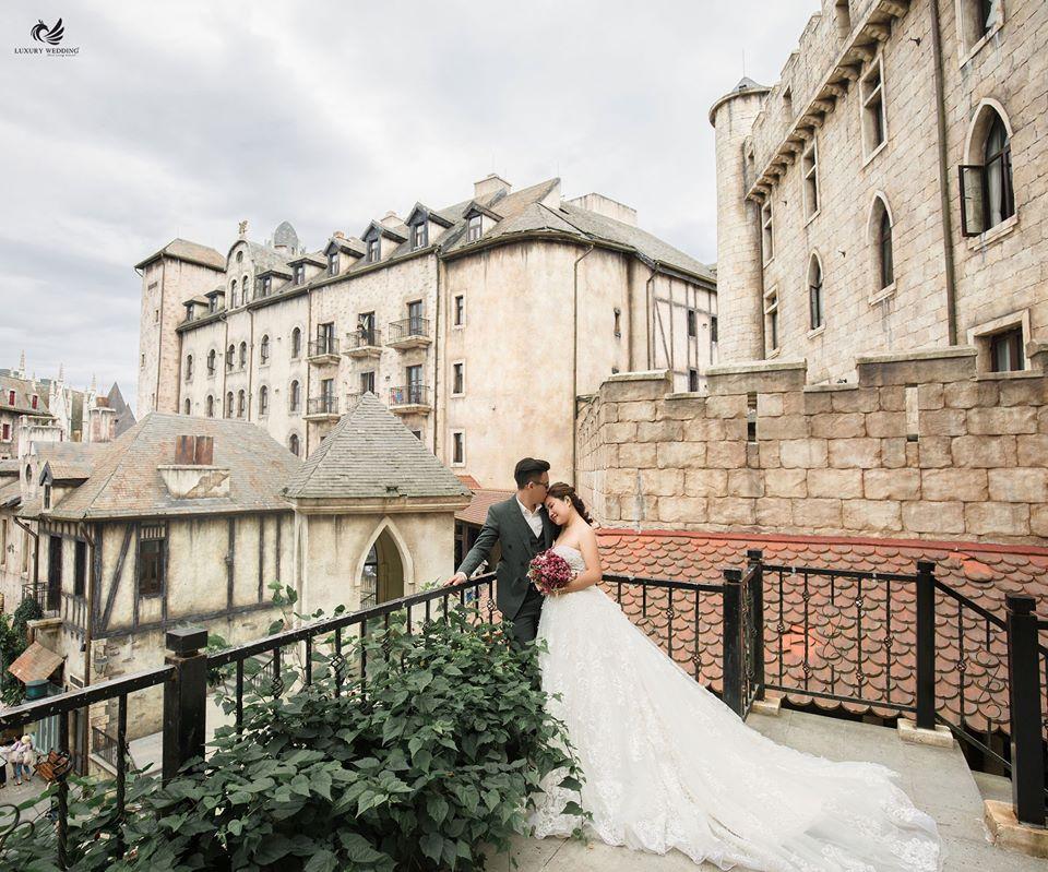 ảnh cưới tại biệt thự cổ