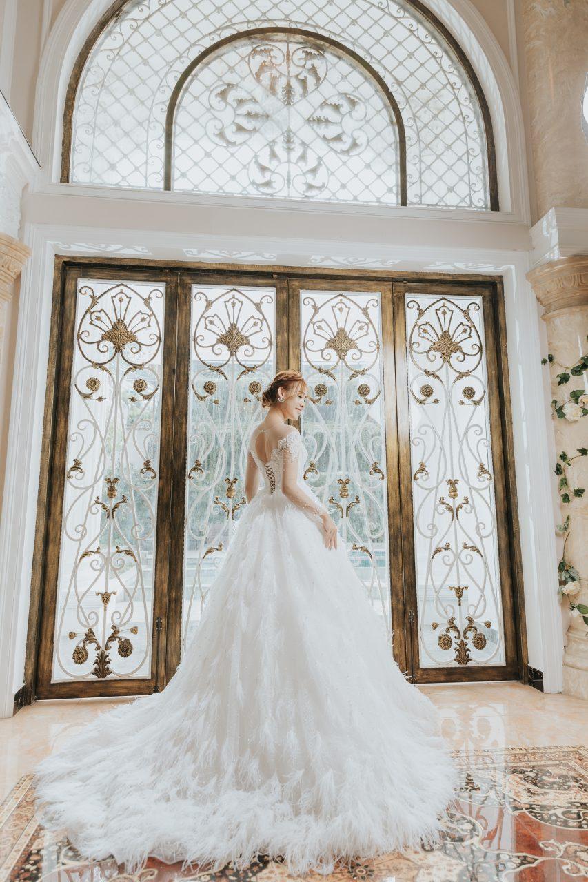 ấn tượng cô dâu đơn xinh đẹp