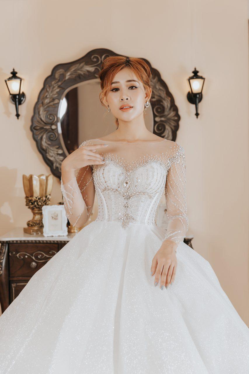 chụp ảnh cô dâu đơn ấn tượng