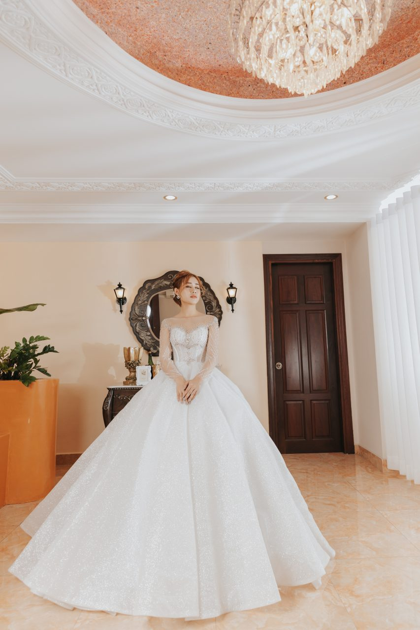 cô dâu đơn ấn tượng