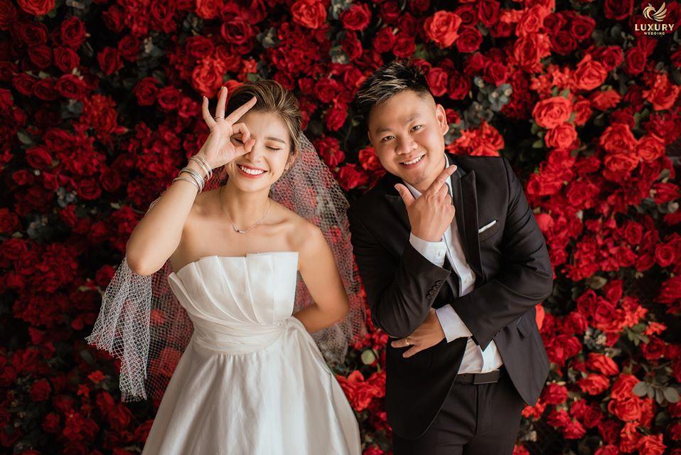 tạo dáng chụp ảnh cưới đẹp tại L'amour