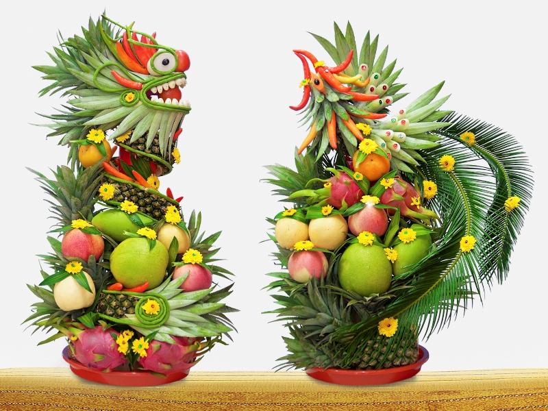 mâm tráp cưới trái cây