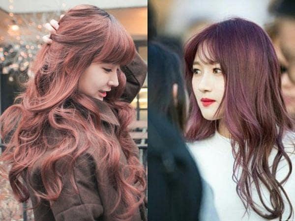 nhuộm tóc màu nâu đỏ