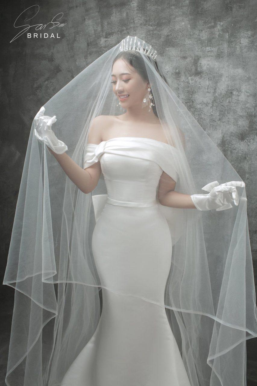 áo cưới đẹp trễ vai