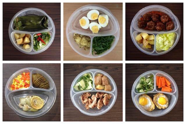 chia nhỏ khẩu phần ăn bí quyết giảm cân