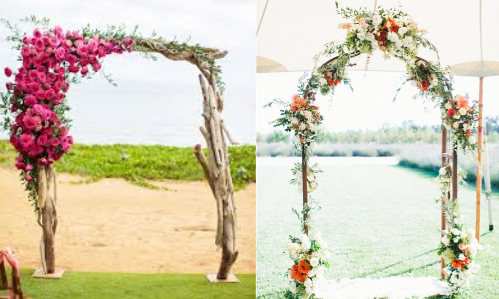 cổng cưới thân cây