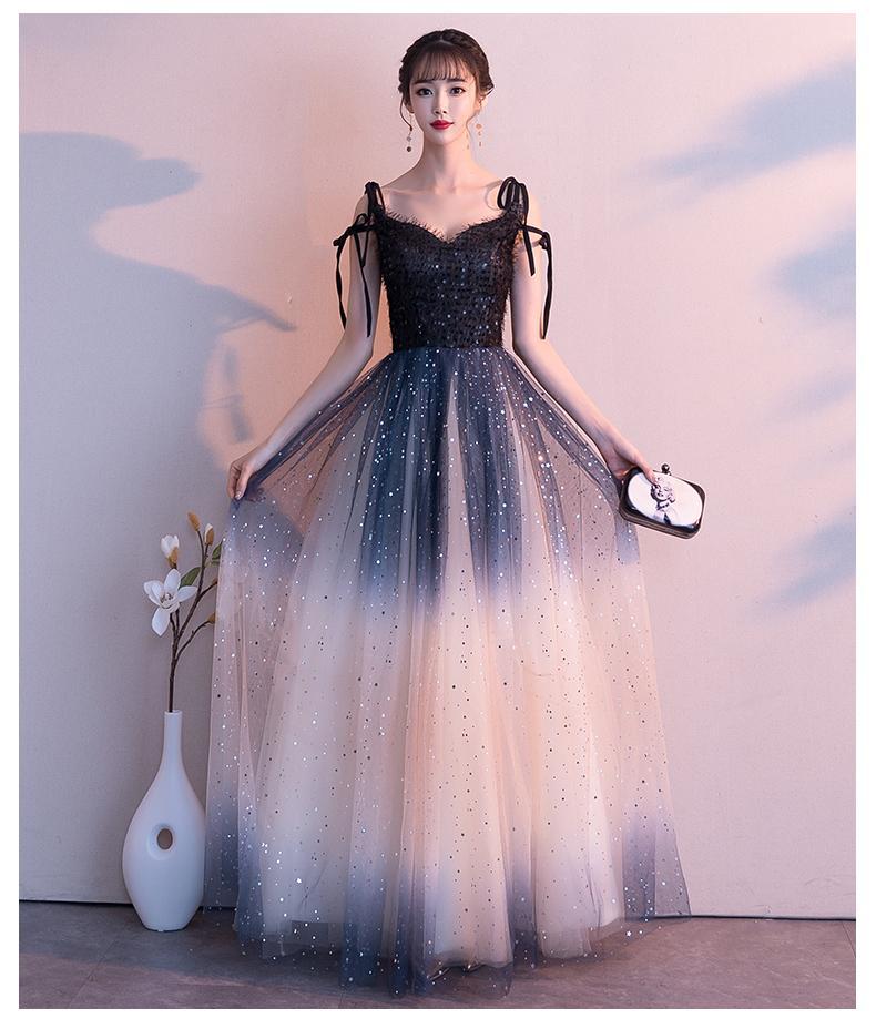 váy cưới dạ hội màu xanh