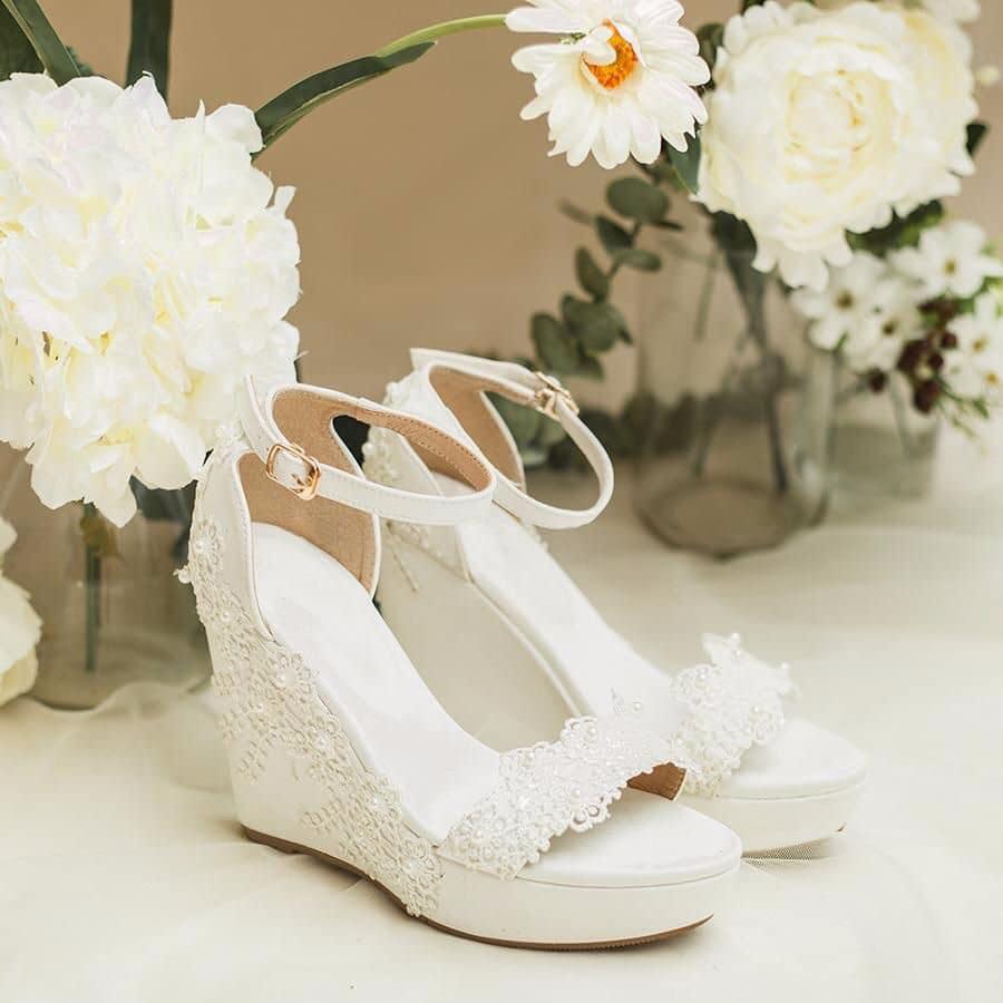 giày cưới đế xuồng
