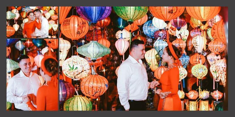 trang trí tiệc cưới bằng đèn lồng