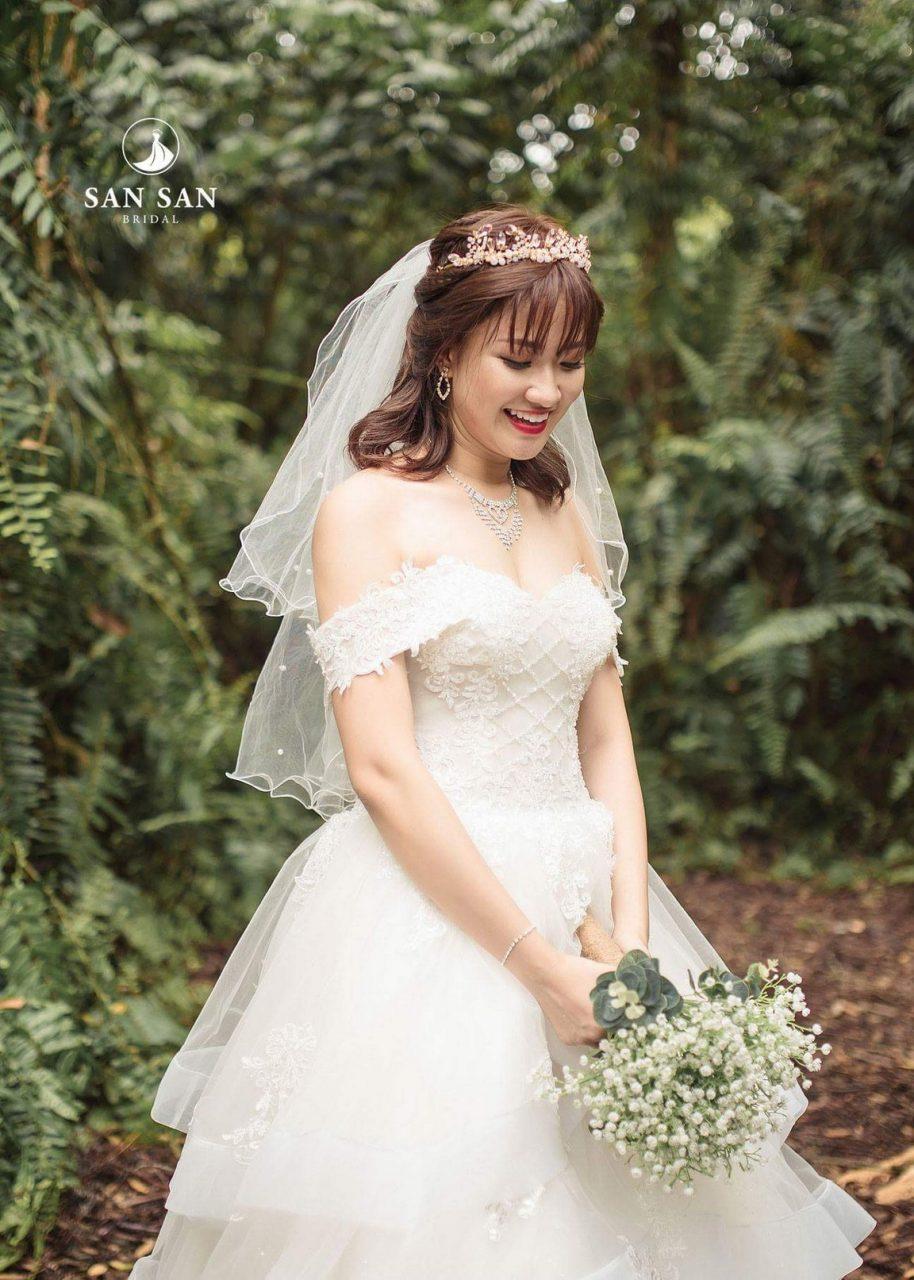 váy cưới cho các cô dâu béo