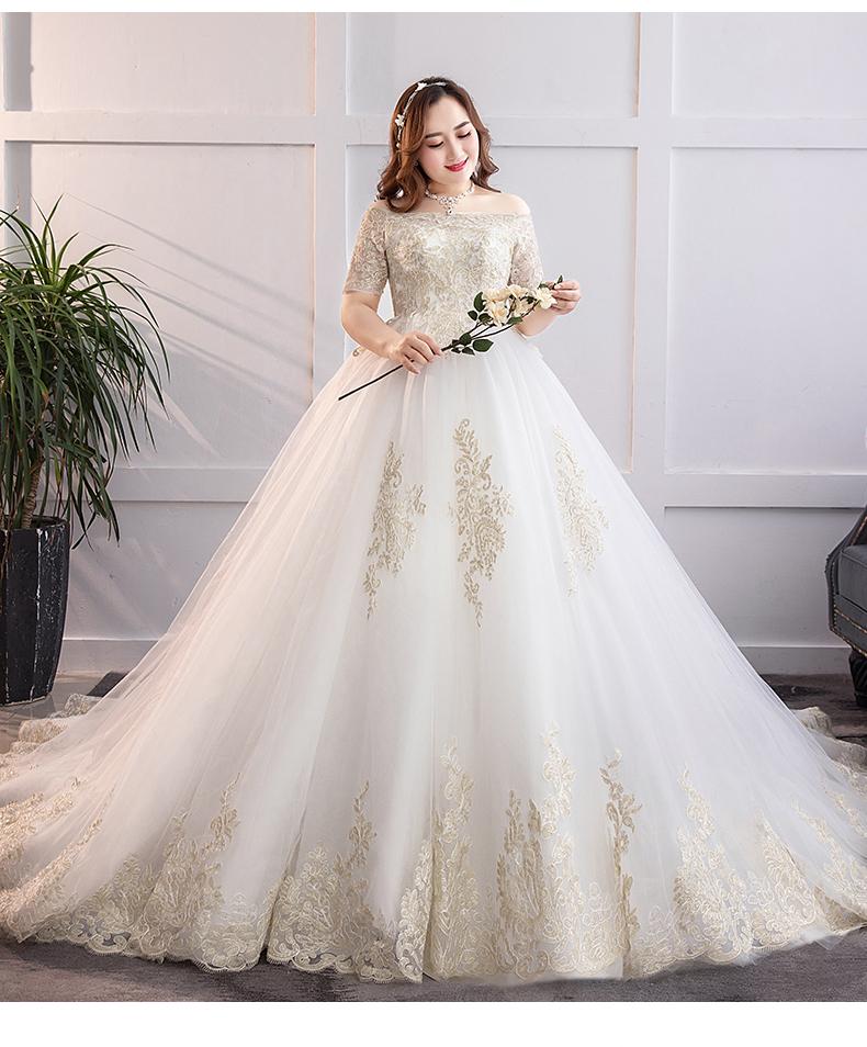 váy cưới chữ A tay dài đẹp