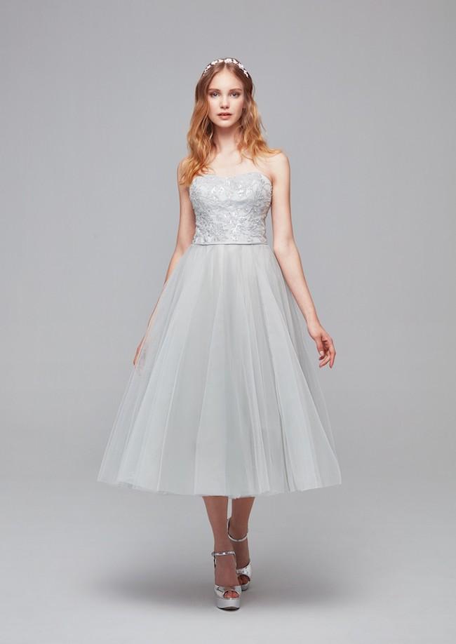 váy cưới ngắn suông