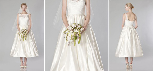 váy cưới suông ngắn trang phục cô dâu ngày mưa