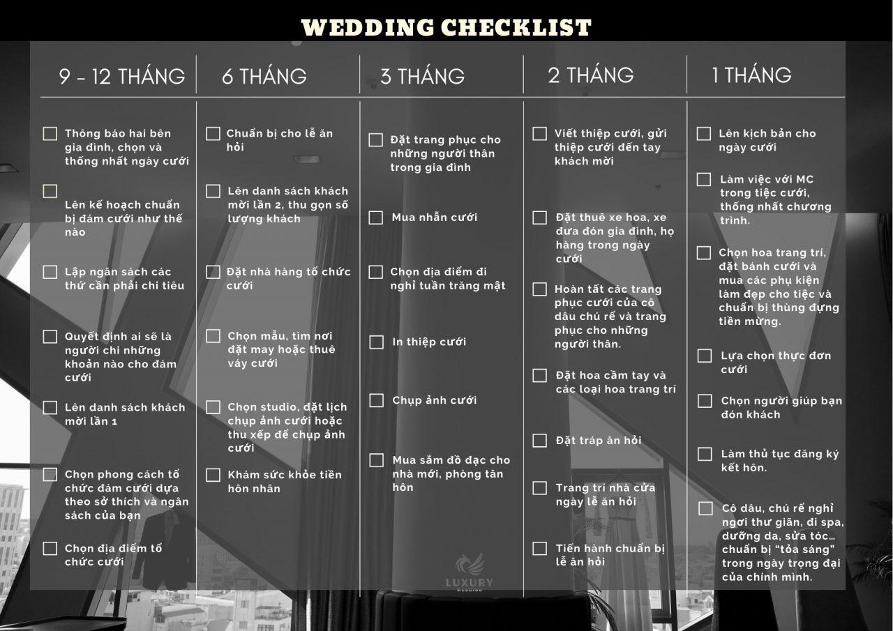Chuẩn bị kế hoạch đám cưới