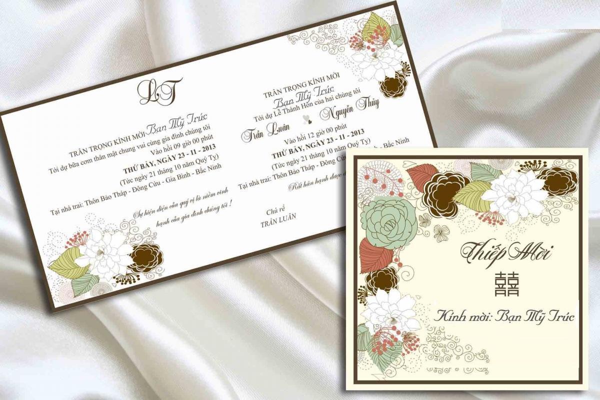 tiêu chuẩn viết thiệp cưới