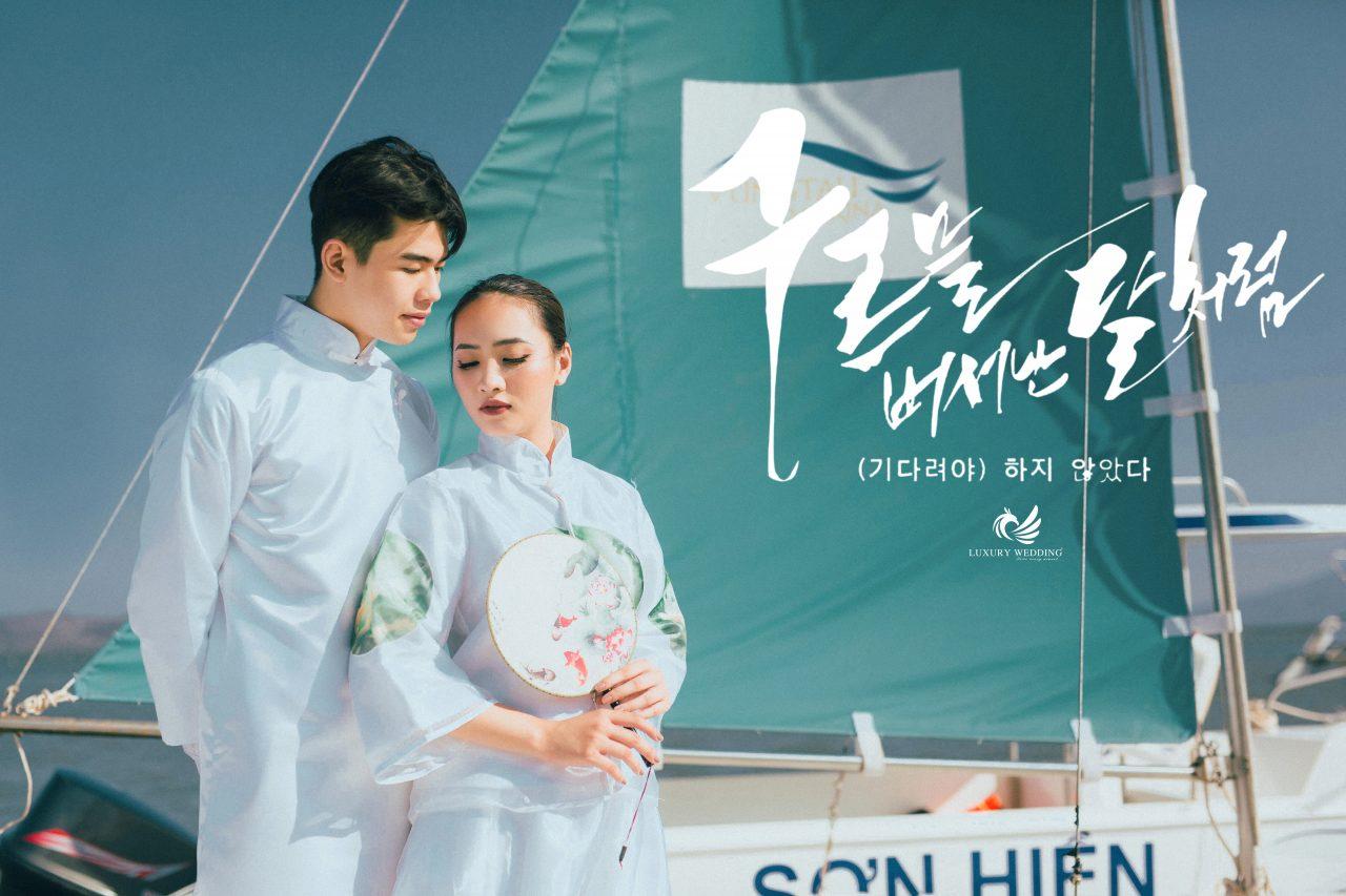 CHụp ảnh cưới trên thuyền tại hồ cốc