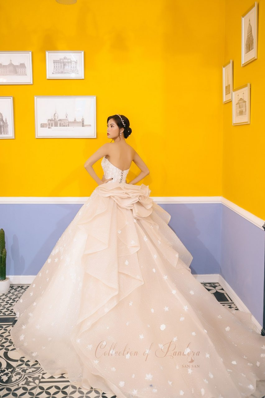 váy cưới công chúa nhẹ nhàng