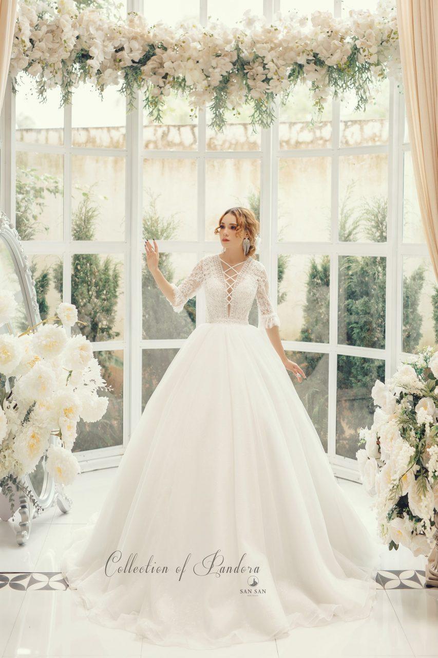 váy cưới đẹp xòe bồng