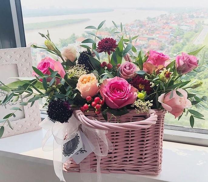 giỏ cắm hoa