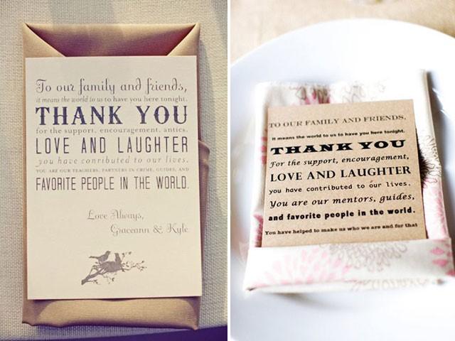 thư cảm ơn sau đám cưới