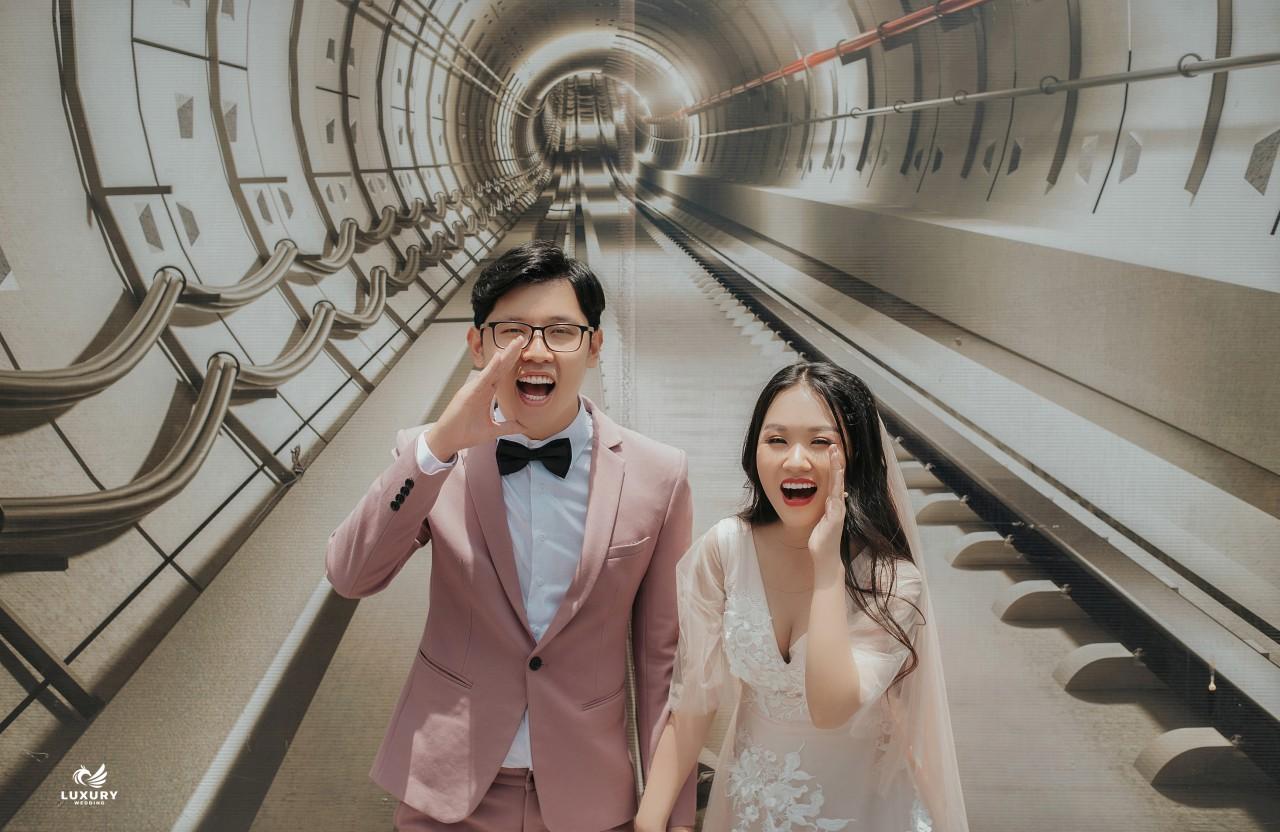 Hút mắt với bộ ảnh cưới ngoại cảnh Sài Gòn siêu đáng yêu